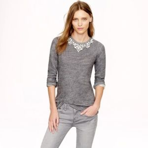 J. Crew | Jeweled Neck Sweatshirt